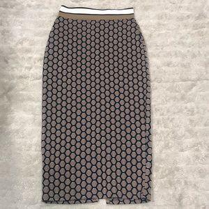 GP & J Baker x H&M patterned pencil skirt Size XS